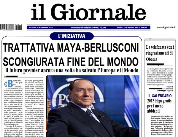 Berlusconi e i Maya
