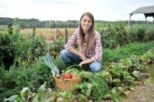 Giovane agricoltora